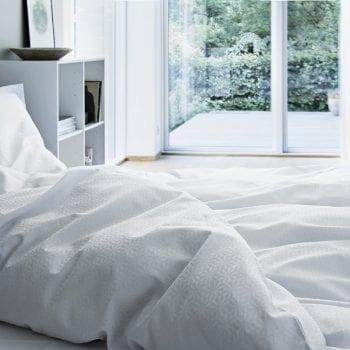 Bettwäsche weiß aus Damast