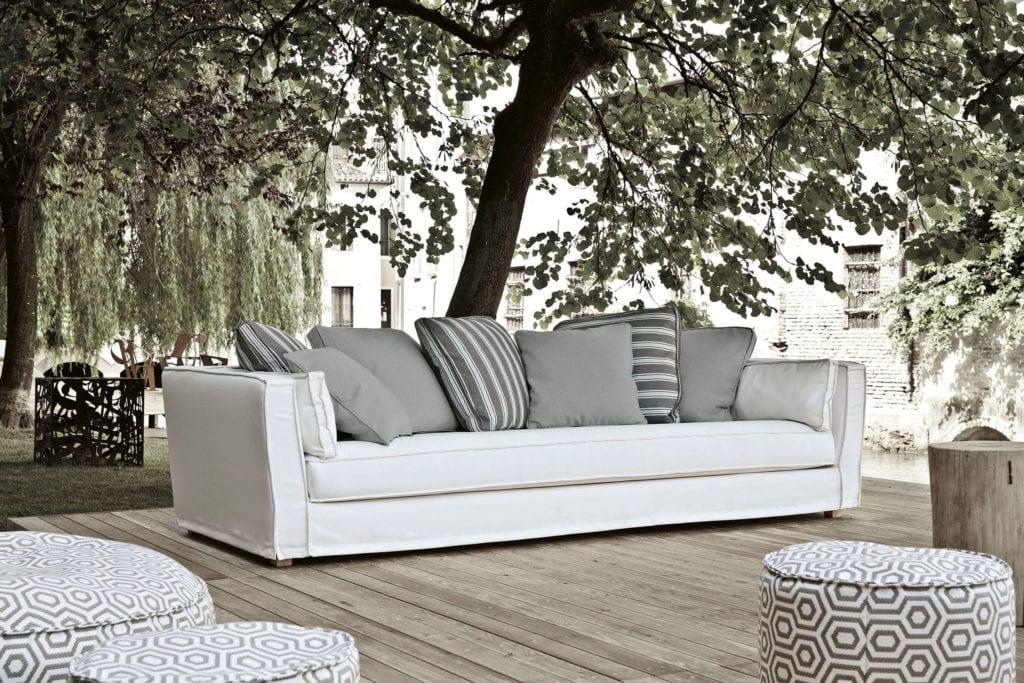 Contemporary sofa / outdoor / fabric - Daunenspiel