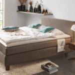 Dormiente Boxspringbett aus Naturmaterialien