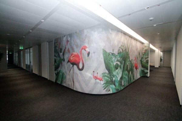 Bürogestaltung mit Tapeten von Skinwall und LondonArt - Interior Design Daunenspiel Wien
